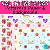 Valentine's Day Patterned Paper/ Background | Commercial Use