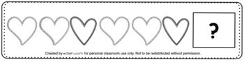Valentine's Day Patterning Cards - Black & White Version