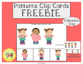 Valentine's Day Patterns Task Clip Cards FREEBIE