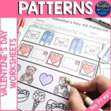 Valentine's Day Patterns Worksheets - AB, AAB, ABB, ABC Patterns