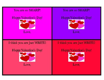Valentine's Day Pencil Cards