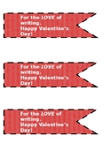 Valentine's Day Pencil Flags