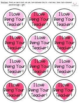 Valentine's Day Pencil Holder + Teacher Note