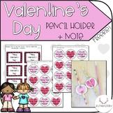 Valentine's Day Pencil Holder + Note Freebie