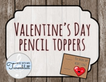 Valentine's Day Pencil Toppers
