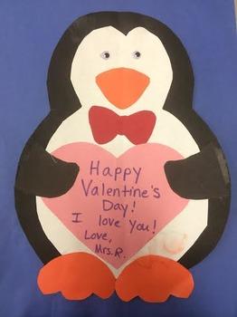 Valentine's Day Penguin Craft