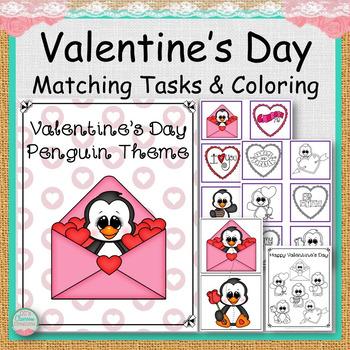 Valentine's Day Penguin Theme