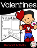 Valentine's Day Pennant Activity