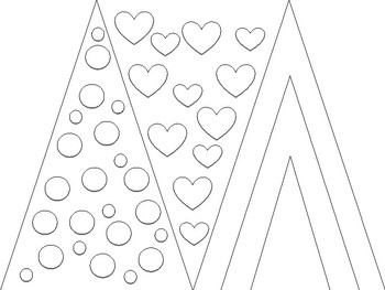 Valentine's Day Pennant Flag Project