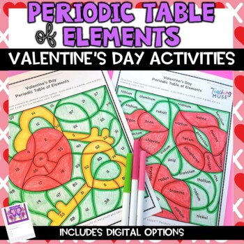 Periodic Table of Elements Valentine's Day Review Activity
