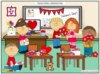 FREEBIE!Valentine's Day Picture Chat!- Vocabulary, 'wh' questions and discussion