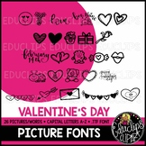Valentine's Day Picture Font {Educlips Clipart}