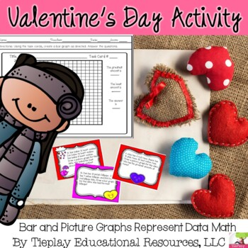 Valentine's Day Picture and Bar Graphs Represent Data Math No Prep