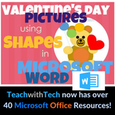 Valentine's Day Pictures using Shapes in Microsoft Word