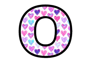 Valentine's Day, Pink and Blue Hearts Bulletin Board Letters, Holi Ancient India