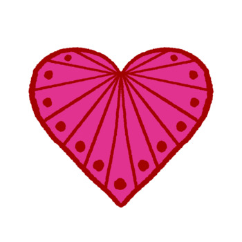 Valentine's Day Pink and Red Hearts Clip Art