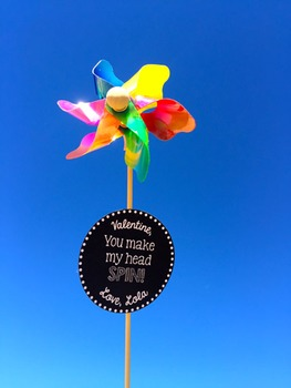 Valentine's Day Pinwheel Freebie