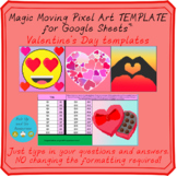 Valentine's Day Pixel Art Magic Moving Mystery Pictures TEMPLATES