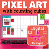 Valentine's Day Pixel Art with Counting Cubes