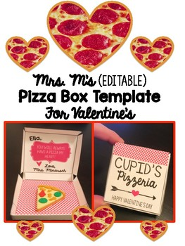 Valentine's Day Pizza Box Template