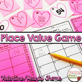 Valentine's Day Place Value Scoot Math Game