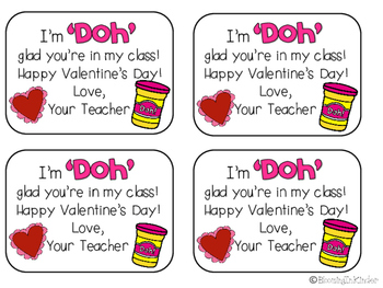 Valentine's Day Play Doh Tags