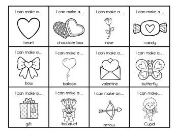 Valentine's Day Play Dough Task Cards for Kindergarten