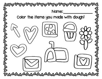 Valentine's Day Play-doh Mats