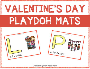 Valentine's Day Playdoh Mats