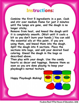 Valentine's Day Playdough Activity! FREE FREE FREE