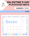 Valentine's Day Playdough Mats Numbers 1 to 10