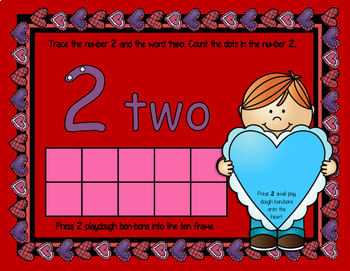 Valentine's Day Playdough Ten Frames Math Mats - Kindergarten and PreK