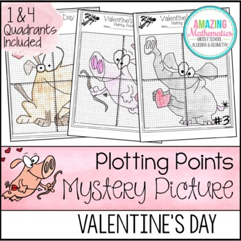 Valentine's Day Math Activity Plotting Points - Mystery Picture