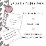 Valentine's Day Poem Mini Book February Poetry Station