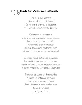 Valentine's Day Poem in Spanish