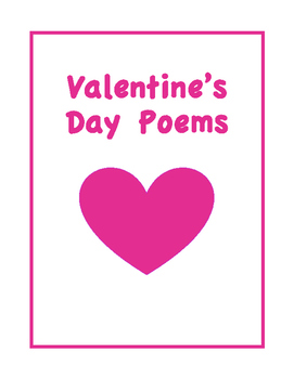 Valentine's Day Poems by Poetry Corner | Teachers Pay Teachers