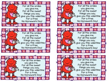 Valentine's Day Poetry, Pass and Math FREEBIES