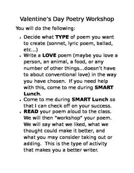 Valentine's Day Poetry Workshop