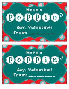 Valentine's Day Popcorn Bag Label