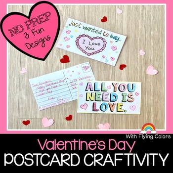 Valentine's Day Postcard Writing Craftivity