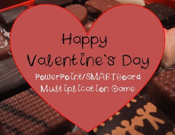 Valentine's Day PowerPoint Interactive Whiteboard SMARTboard Multiplication Game