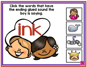 Valentine's Day PowerPoint Phonics Review Game