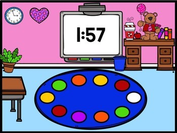 Valentine's Day Digital Powerpoint Countdown Timers freebie