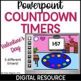 Valentine's Day Digital Powerpoint Countdown Timers freebie