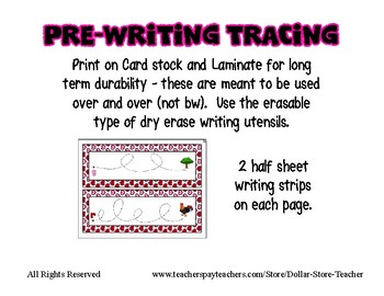 Valentine's Day Pre-Writing Strips ~ 60+ includes Letter, Color, Shape & Number