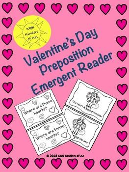 Valentine's Day Preposition Emergent Reader *Great for Grammar*
