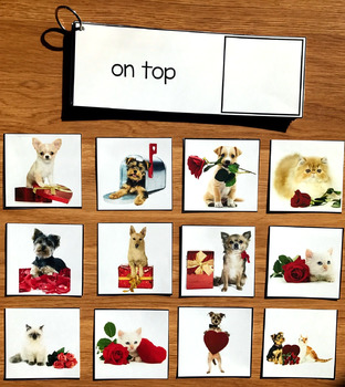 Valentine's Day Prepositions and Matching Activities w/Real Photos