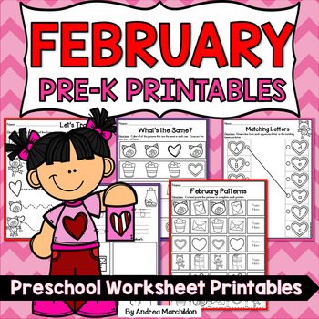 February Preschool Morning Work