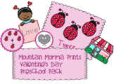 Valentine's Day Preschool Math & Matching Pack
