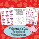 Valentine's Day Preschool Prewriting No Prep